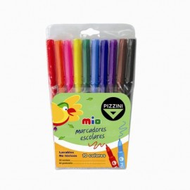 marcadores-escolares-pizzini-mio-x10