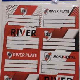 Etiqueta escolar River 2x8