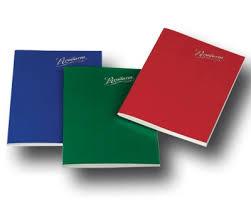 cuaderno tapa blanda forrado